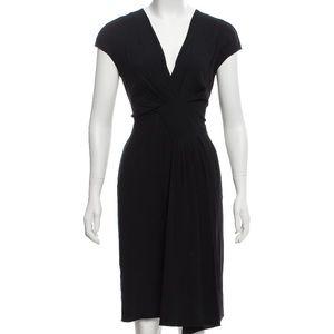 CHRISTIAN DIOR Pleated black cocktail dress